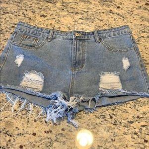 Women's SHEIN ripped jean shorts
